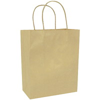 Sacs en papier Gunther Mele, papier kraft brun, 8po x 41/2po x 10po, caisse de 250