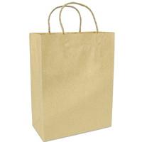 Sacs en papier Gunther Mele, papier kraft brun, 10po x 5po x 13po, caisse de 250