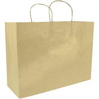 Sacs en papier Gunther Mele, papier kraft brun, 16po x 6po x 12po, caisse de 250