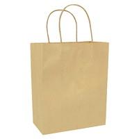 Sacs en papier Gunther Mele, papier kraft brun, 7po x 31/2po x 8po, caisse de 250