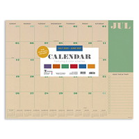 TF Publishing 12-Month Academic Monthly Desk Calendar, 17