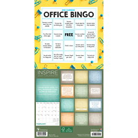 TF Publishing 12-Month Office Bingo Mini Monthly Wall Calendar, 7