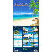 TF Publishing 12-Month Tropical Beaches Mini Monthly Wall Calendar, 7