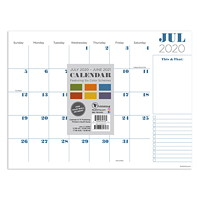 TF Publishing Professional Mini Academic Desk Pad Calendar, 12