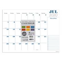 TF Publishing Professional Mini Academic Desk Pad Calendar, 12