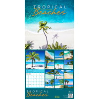 TF Publishing Tropical Beaches Monthly Wall Calendar, 12