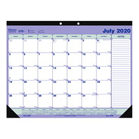 Blueline 13-Month Academic Monthly Desk Pad Calendar, 21 1/4
