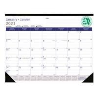 Blueline DuraGlobe Sugar Cane Monthly Desk Pad Calendar, 22