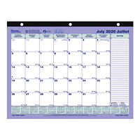 Blueline 13-Month Academic Monthly Desk Pad Calendar, 11