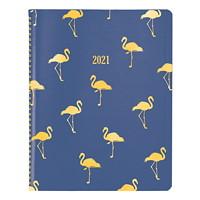 Blueline 12-Month Weekly/Monthly Funsie Design Planner, Flamingo, 11