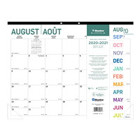 Blueline 16-Month Academic Monthly Desk Pad Calendar, Pure Design, 22