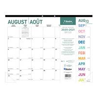 Blueline 16-Month Academic Monthly Desk Pad Calendar, Pure Design, 22
