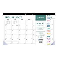 Blueline 16-Month Academic Monthly Desk Pad Calendar, Pure Design, 17 3/4