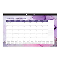 Blueline 12-Month Monthly Desk Pad/Wall Calendar, Quartz Design, 17 3/4