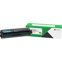 Lexmark C341XC0 Cyan High Yield Return Program Toner Cartridge
