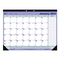 Blueline 12-Month Monthly Desk Pad/Wall Calendar, 21 1/4