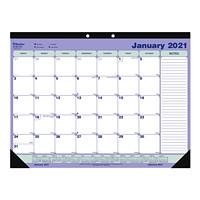 Blueline 12-Month Monthly Desk Pad/Wall Calendar, 21 1/4