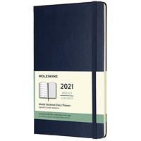 Agenda hebdomadaire Moleskine, 5po x 81/4po, bleu, 12 mois (janvier 2021 à décembre 2021), anglais