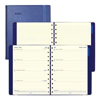Agenda hebdomadaire Filofax, 107/8po x 81/2po, bleu, 12 mois (janvier 2021 à décembre 2021), bilingue