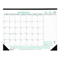 Brownline EcoLogix 12-Month Monthly Desk Pad Calendar, 22