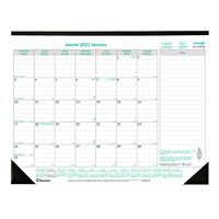 Brownline EcoLogix 12-Month Monthly Desk Pad Calendar, 22