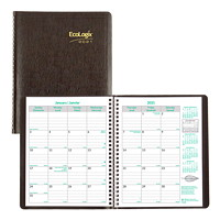 Blueline EcoLogix 14-Month Monthly Planner, 8 7/8