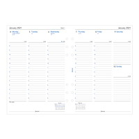 Filofax 12-Month Weekly A5-Size Planner Refill, 5 3/4