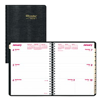 Brownline Coil-Bound 12-Month Weekly Planner, 8 1/2