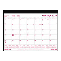 Brownline 12-Month Monthly Desk Pad Calendar with Holder, 24 1/4
