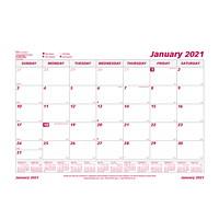 Recharge pour sous-main calendrier mensuel Brownline231/2po x 181/8po, 12 mois (janvier 2021 à décembre 2021), anglais