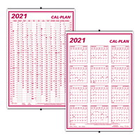 Brownline Oversized 12-Month 2-Sided Wall Calendar, 24