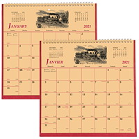 Brownline 12-Month 2-Sided Monthly History Wall Calendar, 11
