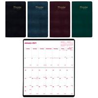 Agenda mensuel de poche 2ans Brownline, 61/2po x 31/2po, couleurs variées, janvier 2020 à décembre 2021, anglais
