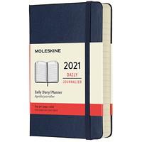 Agenda-carnet quotidien de poche Moleskine, 31/2po x 51/2po, bleu cendré, 12 mois (janvier 2021 à décembre 2021), anglais