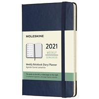 Agenda hebdomadaire Moleskine, 5 po x 3 1/4 po, bleu, janvier 2020 à décembre 2020, anglais