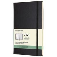 Agenda hebdomadaire Moleskine, 5po x 81/4po, noir, janvier 2020 à décembre 2020, anglais