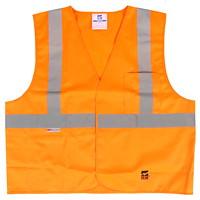 Open Road Solid Polyester Safety Vest, Orange, Size L/XL