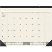 At-A-Glance 12-Month Recycled Monthly Desk Pad Calendar, 22
