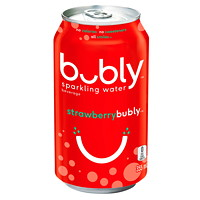 Bubly Sparkling Water, Strawberry, 355 mL, 12/CS - Only available in Alberta
