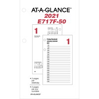 At-A-Glance 12-Month Daily Desk Calendar Refill, 6