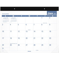 At-A-Glance 12-Month Easy-To-Read Monthly Desk Pad, 22