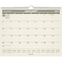 At-A-Glance 12-Month Monthly Green Living Wall Calendar, 15