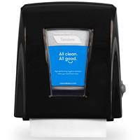 Distributeur d'essuie-mains compact Tandem Cascades PRO, noir