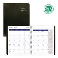 Blueline DuraGlobe Sugar Cane 14-Month Monthly Planner, 8 7/8