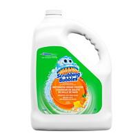 Chasseur de saleté de salles de bain Scrubbing Bubbles, bouteille de recharge, parfum d'agrumes, 3,78l