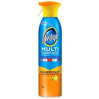 Pledge Multi-Surface Disinfectant Cleaner, Aerosol Spray, Citrus Scent, 275 g