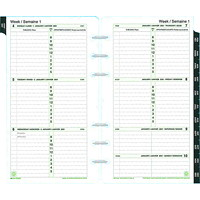 Day-Timer 12-Month Weekly Planner Refill, 6 3/4