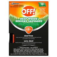 OFF WIPES DEET FREE 10/PK