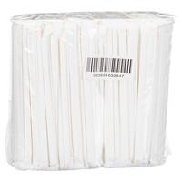 Stone Compostable Paper Straws, White, 8