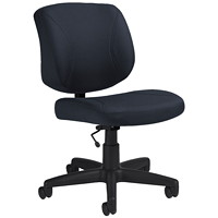 Offices To Go Yoho Low-Back Armless Task Chair, Charcoal Grey, Jenny Fabric